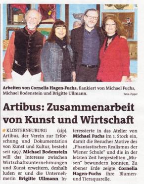 Kunst&Wirtschaft – Massagefachinstitut Brigitte Ullmann bei Cornelia Hagen und Michael Fuchs